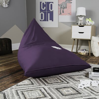 Pivot Kids Bean Bag Lounger Chair with Cotton Cover Upholstery: Violet