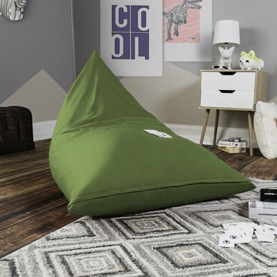 Pivot Kids Bean Bag Lounger Chair with Cotton Cover Upholstery: Avocado