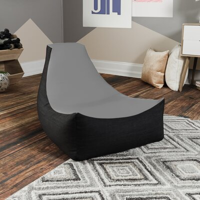 Bean Bag Gaming Chair Upholstery: Silver