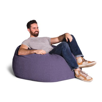 Kiss Bean Bag Chair Upholstery: Plum