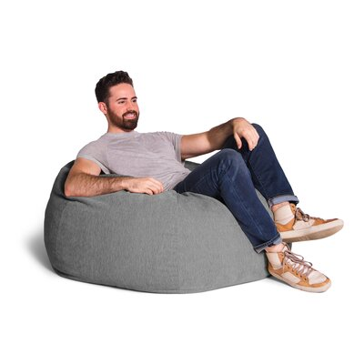 Kiss Bean Bag Chair Upholstery: Gray