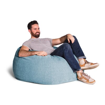 Kiss Bean Bag Chair Upholstery: Turquoise