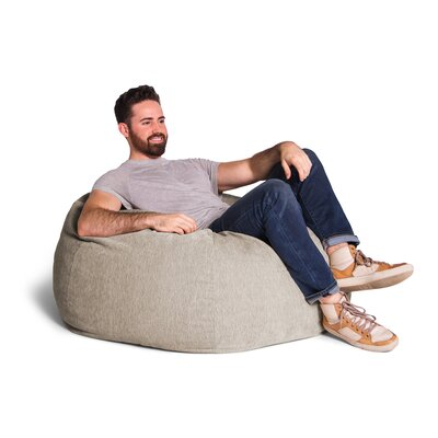 Kiss Bean Bag Chair Upholstery: Beige