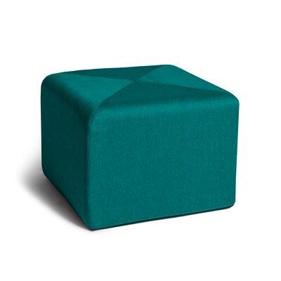 Ikard Cube Ottoman Color: Aqua