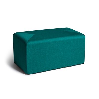 Ikard Cocktail Ottoman Color: Aqua
