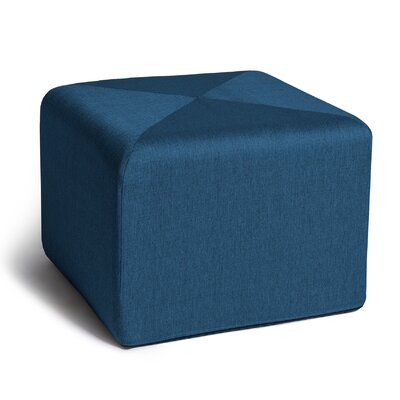 Ikard Cube Ottoman Color: Bleu