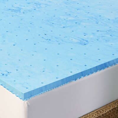 1.5 Gel Memory Foam Mattress Topper Size: Queen