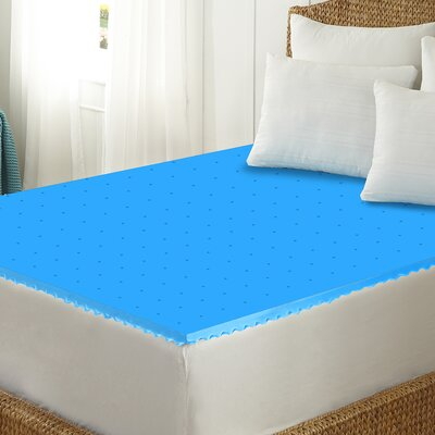 1.5 Memory Foam Mattress Topper Size: Queen