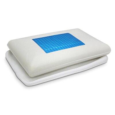 Gel Top Microfiber Memory Foam Standard Pillow Color: Blue