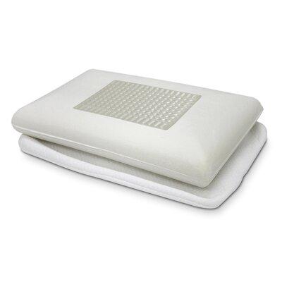 Gel Top Microfiber Memory Foam Standard Pillow Color: Clear
