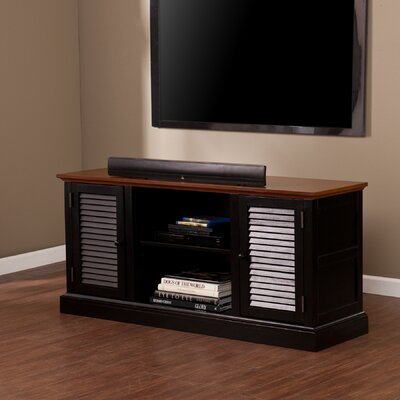 South Berwick TV Stand Finish: Walnut and Black