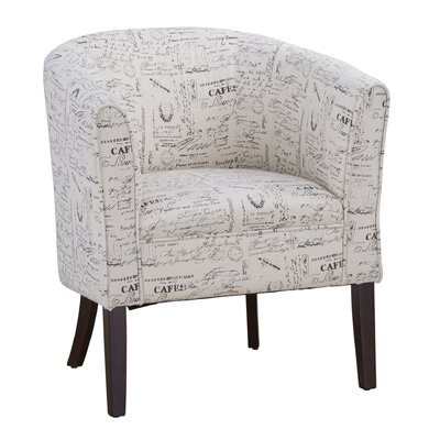 Claiborne Patterned Club Chair Color: Parisian