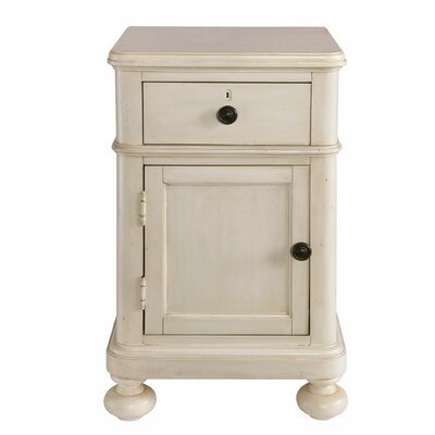 Blithedale 1 Drawer Nightstand Color: Antique White