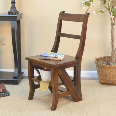 Franklin Library Ladder Chair Color: Chestnut