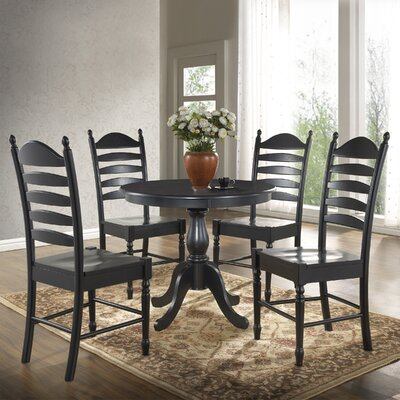 Fredric 36 Dining Table Finish: Antique Black