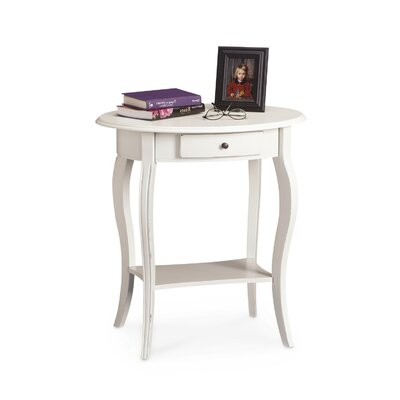Cheap Carolina Cottage Martha End Table in Antique Ivory (CN1010)