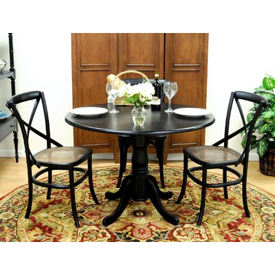 dining table set in distressed antique black cn1669 on dinette sets