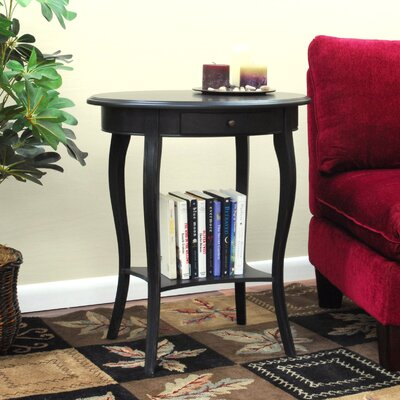 Cheap Carolina Cottage Martha Oval End Table in Antique Black (CN1065)