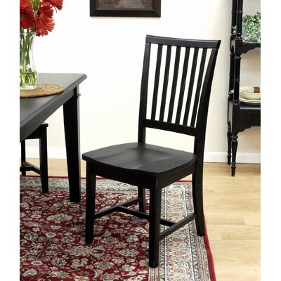 Image of Carolina Cottage Hudson 5 Piece Dining Set in Antique Black (CN1450)