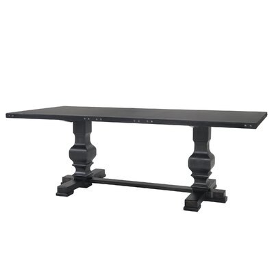 Glen Ridge Double Pedestal Dining Table Finish: Black