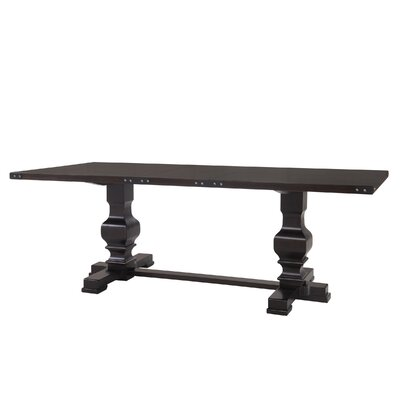Glen Ridge Double Pedestal Dining Table Finish: Espresso