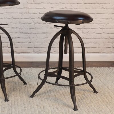 Samaira Adjustable Height Swivel Bar Stool