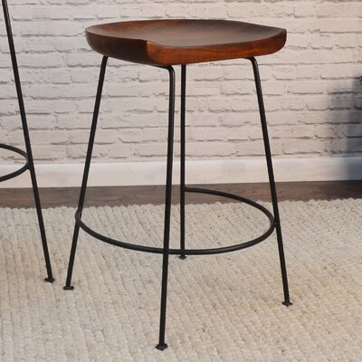 Axelle Counter 24.5 Bar Stool Finish: Chestnut/Black