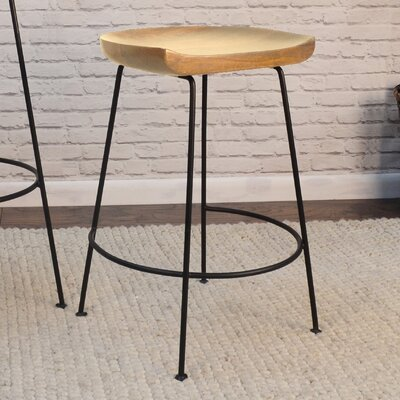 Axelle Counter 24.5 Bar Stool Finish: Natural/Black