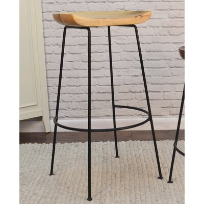 Axelle 30.5 Bar Stool Finish: Natural/Black