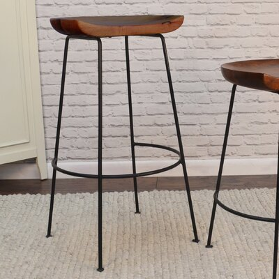 Axelle 30.5 Bar Stool Finish: Chestnut/Black
