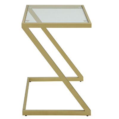 Gills Z Base End Table Color: Gold