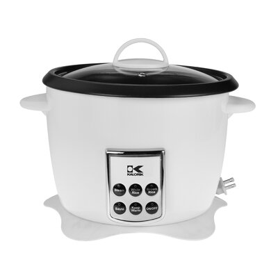 10-Cup Multifunction Digital Rice Cooker Color: White RC 41501 W