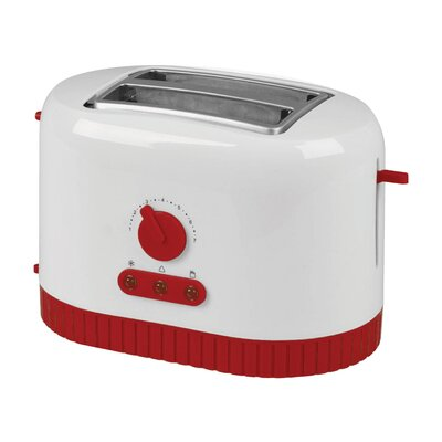 Red Fusion Two Slice Toaster