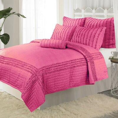 Cloud Reversible Quilt Color: Pink