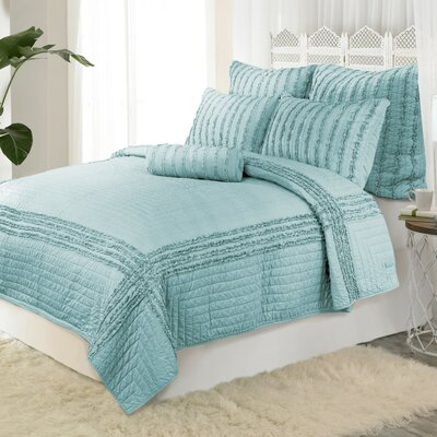 Cloud Reversible Quilt Color: Blue