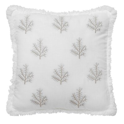Luna Spring Embroidered Cotton Throw Pillow