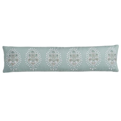 Luna Seafoam Medallion Cotton Lumbar Pillow