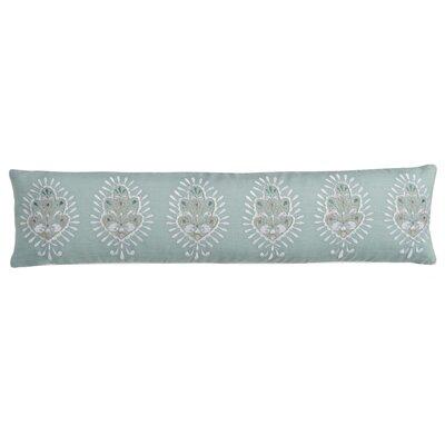 Luna Seafoam Medallion Cotton Lumbar Pillow