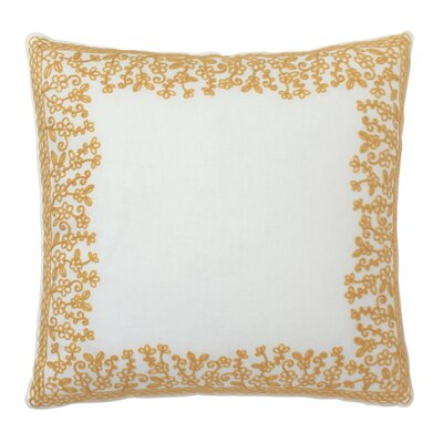 Dream Embroidered 100% Cotton Throw Pillow