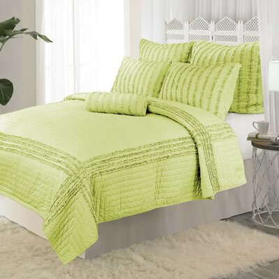Cloud Reversible Quilt Size: Twin, Color: Green