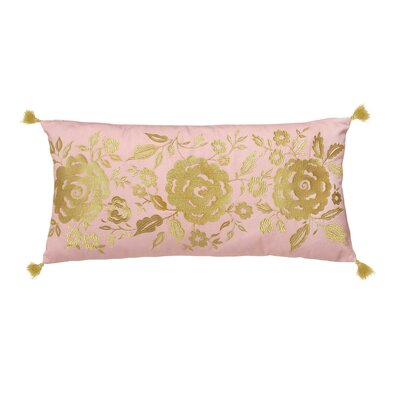 Marielle Floral 100% Cotton Lumbar Pillow