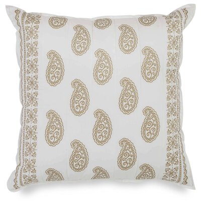 Marielle Quilted Paisley 100% Cotton Euro Pillow