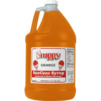 Snappy Popcorn 1 Gallon Snow Cone Syrup - Flavour: Orange at Sears.com