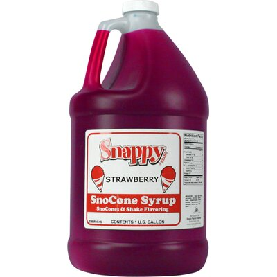Snappy Popcorn 1 Gallon Snow Cone Syrup - Flavour: Strawberry at Sears.com