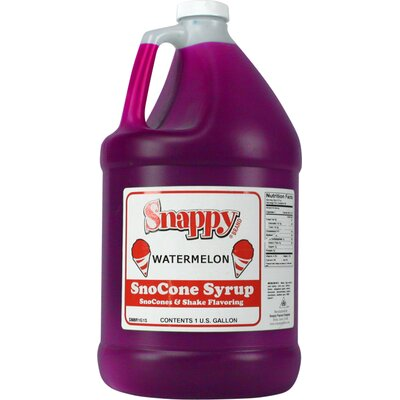 Snappy Popcorn 1 Gallon Snow Cone Syrup - Flavour: Watermelon at Sears.com