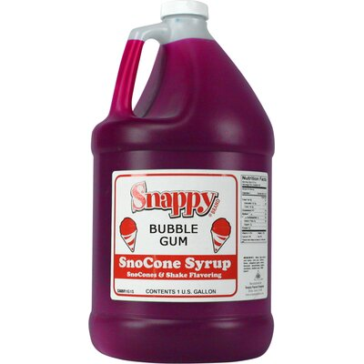 Snappy Popcorn 1 Gallon Snow Cone Syrup - Flavour: Bubble Gum at Sears.com