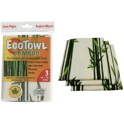 EcoTowel Rayon from Bamboo Compostable Cloth 3 Count