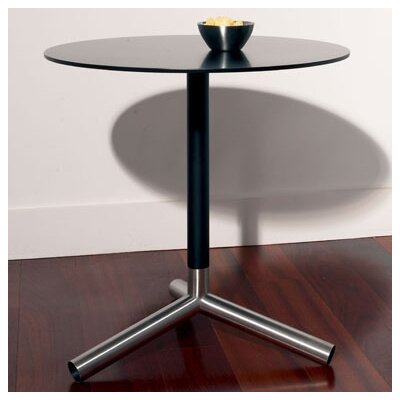 Sprout End Table Top and Stem: Black