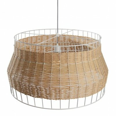 Laika 1-Light Drum Pendant Color: Natural