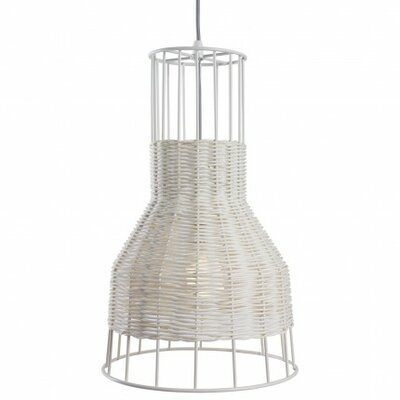Laika 1-Light Small Pendant Color: White